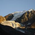 die ersten Gletscher werden sichtbar