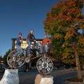 ein Bike und drei starke Männer!