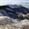...und auf die Gletscher rundum