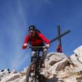 am liebsten vom Gipfelkreuz an fahren