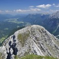 Blick hinunter (?) zum Gipfel