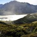 Erstbefahrung vom Muellers Hut / Blick auf Mt. Cook (Südinsel)