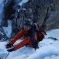 Schnee am Klettersteig