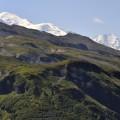 erster Blick zum Mont Blanc