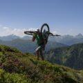 Typische Bike-Hiker Position!