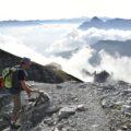 Am Weg zum 1. Gipfel.