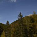 Hütte mit Gipfel.